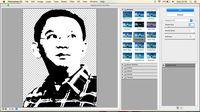 Lokasli pallete knife. Klik Filter —> filter gallery — > palette knife. Di beberapa seri photoshop, pallete knife berada di Filter —> artictic — > palette knife.