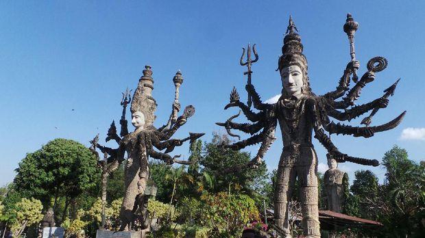 Taman ini campuran antara agama Hindu dan Buddha (Ahmad Masaul Khoiri/detikTravel)