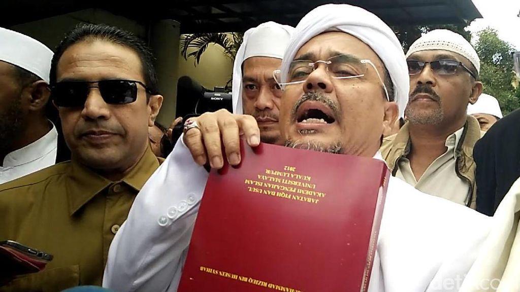 Praperadilan Penodaan Pancasila Habib Rizieq Ditunda