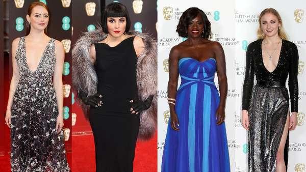Gaya Para Aktris Cantik di BAFTA 2017