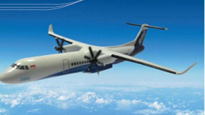 Pesawat R80. (Foto: Dok. Regio Aviasi Industri)