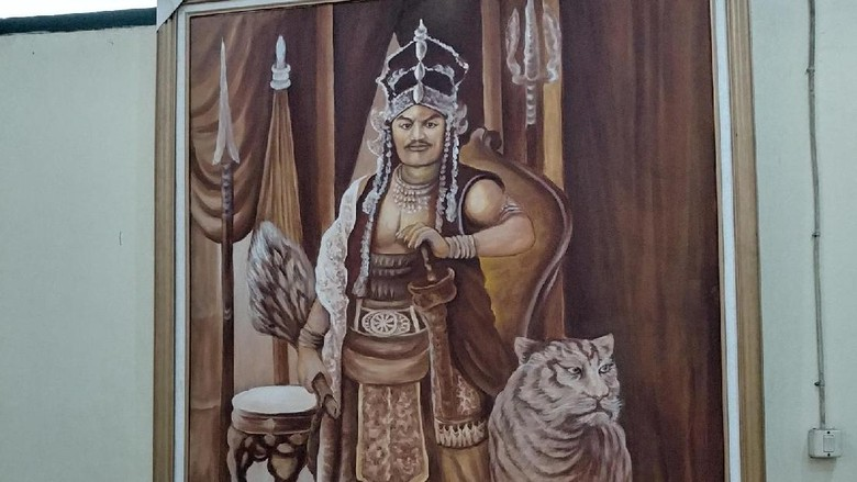 Foto: Lukisan Prabu Siliwangi (Tri Ispranoto/detikTravel)