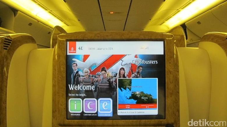 Inflight entertainment Emirates (Afif Farhan/detikTravel)