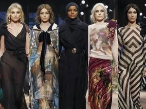 Bareng Gigi Hadid, Hijabers Halima Jadi Model di Milan Fashion Week