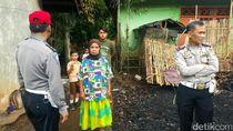 Kebahagiaan Mak Ecin yang Rumahnya Dibangun Lagi Oleh Polisi