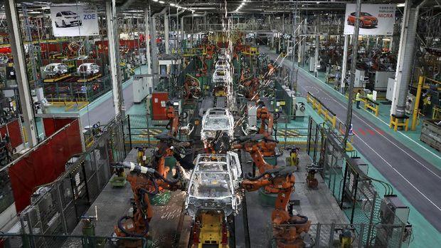 Ilustrasi pabrik mobil. Saat ini yang menguasai pasar mobil di Indonesia adalah yang berasal dari Jepang dan Korea Selatan.