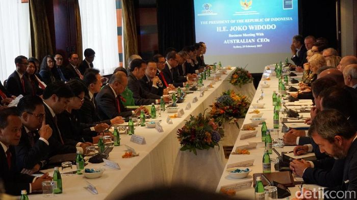 Foto: Suasana perjemuan Presiden Jokowi dan pengusaha Australia (Ray Jordan/detikcom)