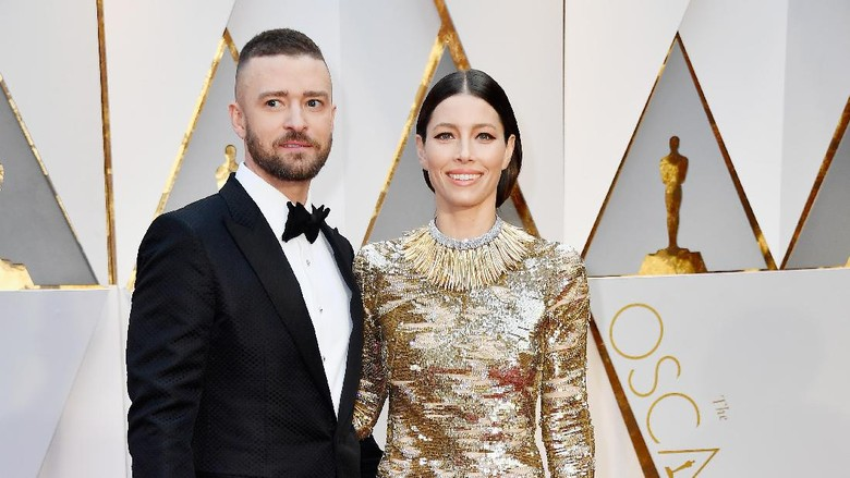 Justin Timberlake dan Jessica Biel (Foto: Frazer Harrison/Getty Images)