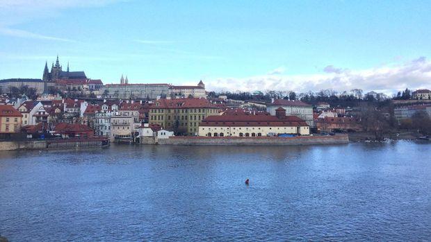Kota Praha dari ketinggian