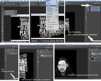 Membuka hasil typography untuk menyiapkan sebagai layer di wajah subjek.