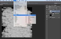 Proses displacement usai penggandaan typography selesai.