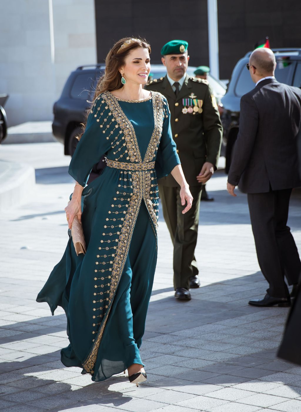 MADRID, SPAIN - NOVEMBER 19:  Queen Rania Abdullah of Jordan visits the Prado Media Lab cultural center on November 19, 2015 in Madrid, Spain.  (Photo by Carlos Alvarez/Getty Images)