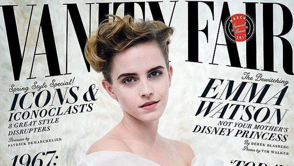 Ikon Feminist, Emma Watson Tampil Seksi di Vanity Fair
