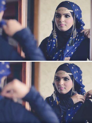 Tutorial Hijab Terinspirasi Gaya Putri Arab Saudi