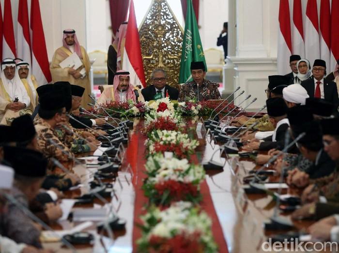 Pertemuan bilateral Indonesia-Arab Saudi di Istana Bogor (Foto: Pool)