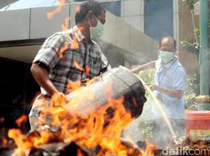 Polda Metro Jaya Musnahkan Barbuk Narkoba