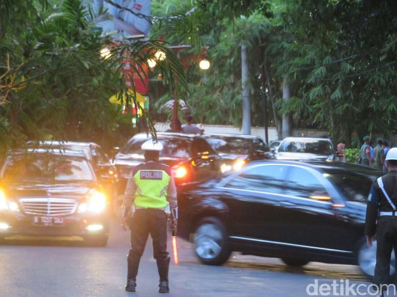 mbongan mobil Raja Salman saat ke Indonesia. RoFoto: Ardan Adhi Chandra/detikcom
