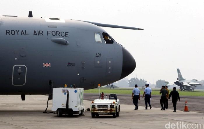 AU Inggris saat memamerkan kecanggihan A400M beberapa waktu lalu (Foto: dok. detikcom)