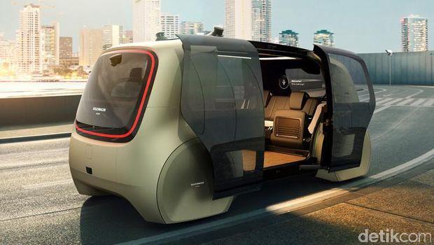 Ilustrasi mobil otonom VW