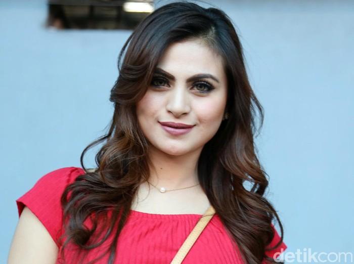 Asha Shara saat ditemui di Studio Trans TV.
