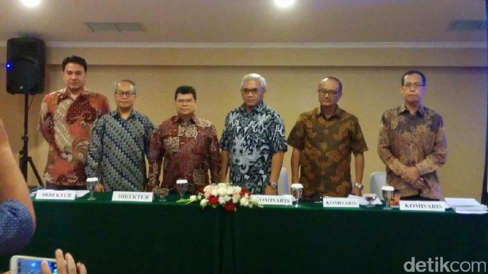 Manajemen Inovisi saat RUPS. Foto: Danang Sugianto/detikFinance