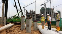 Konstruksi 2 Apartemen di CBD Meikarta Rampung