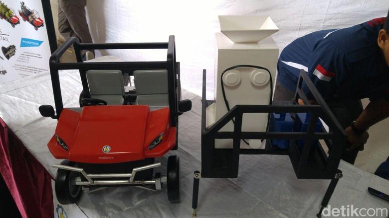Mock up desain mobil desa ITS (Foto: M Luthfi Andika)