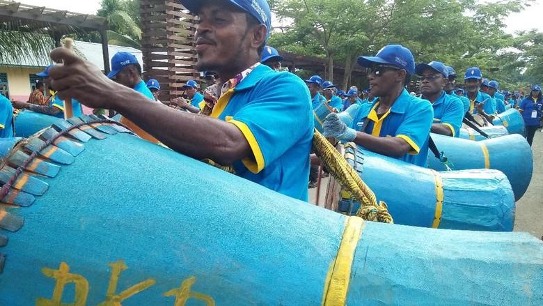 Karnaval budaya di Kota Waisai, Raja Ampat, Papua Barat (Bonauli/detikTravel)