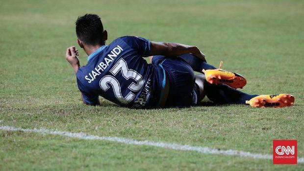 Gelandang Timnas Indonesia U-22, Hanif Sjahbandi ingin berusaha netral membahas soal debat capres 2019. (