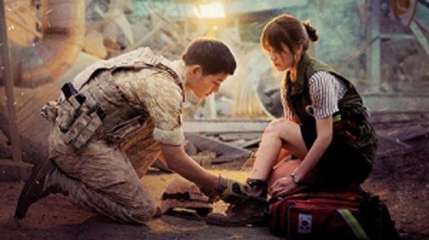 'Descendants of the Sun', momen bertemunya Song Joong-ki dan Song Hye-kyo.