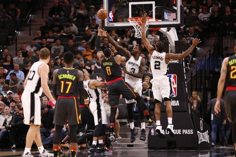 Spurs Jinakkan Hawks, Samai Catatan Warriors