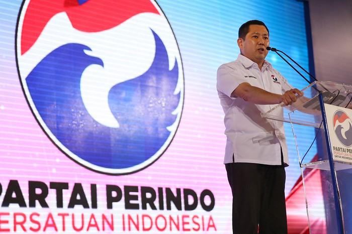 Ketua Umum Partai Perindo Hary Tanoesoedibjo (Ari Saputra/detikcom)