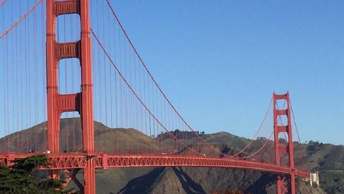 Golden Gate, salah satu jembatan ikonik di San Francisco, California, Amerika Serikat. Foto: (Maikel Jefriando/detikTravel)