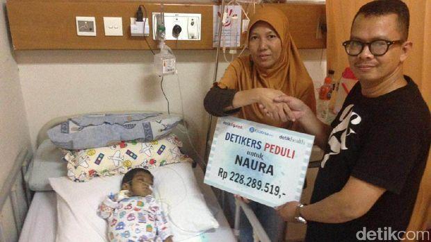 Donasi dari detikers untuk Naura