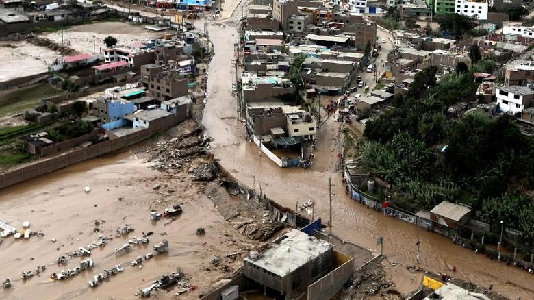Begini Penampakan Banjir di Peru dari Ketinggian