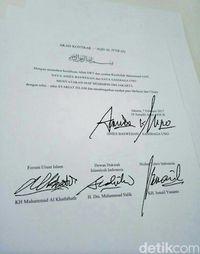 Beredar Kontrak Palsu Syariat Islam, Anies-Sandi: Itu Fitnah Lagi
