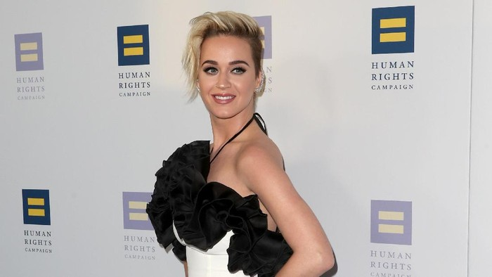 LOS ANGELES, CA - MARCH 18:  Singer Katy Perry at The Human Rights Campaign 2017 Los Angeles Gala Dinner at JW Marriott Los Angeles at L.A. LIVE on March 18, 2017 in Los Angeles, California.  (Photo by Frederick M. Brown/Getty Images)