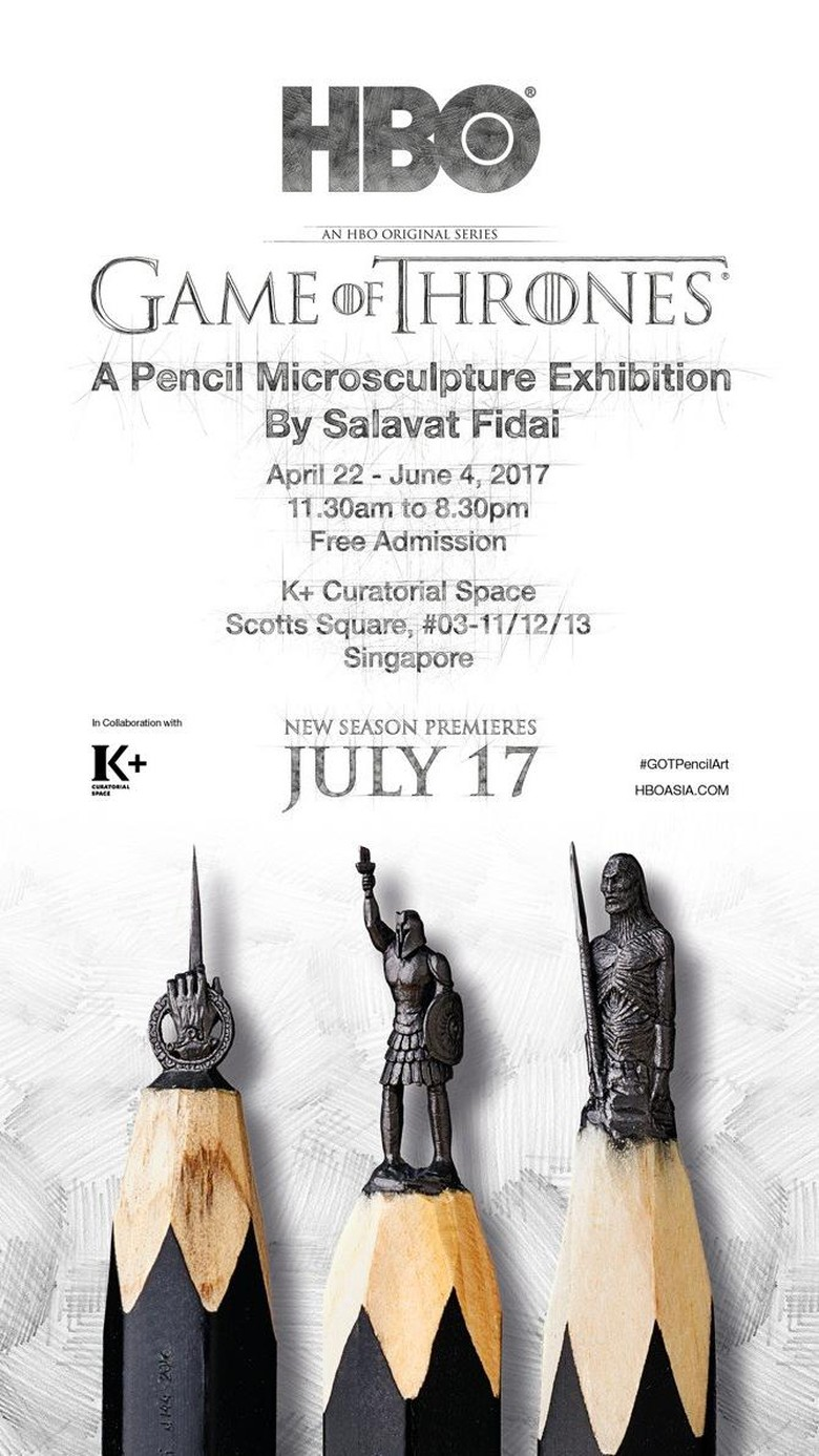 Pameran Ukiran Mikro Pensil Game of Thrones Digelar di Singapura April
