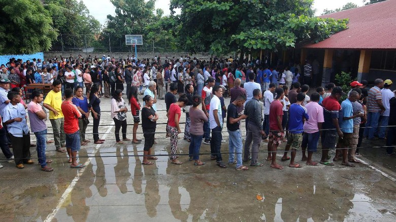 Pilpres Timor Leste Digelar, Warga Mengantre di TPS