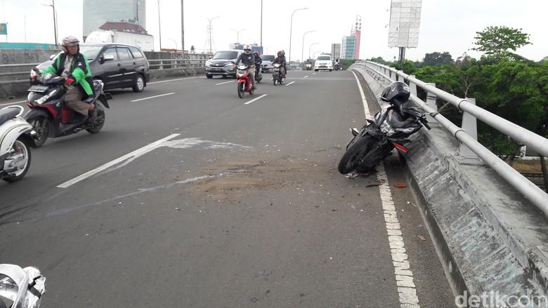 Kecelakaan motor. Foto: Cici Marlina Rahayu-detikcom
