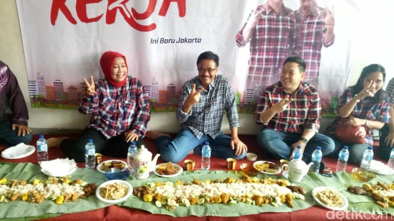 Makan Nasi Liwet, Djarot Teringat Ahok yang Sedang Sidang