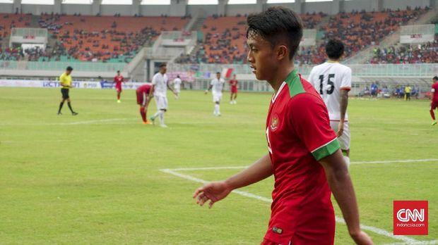 Febri Hariyadi jadi pemain yang diwaspadai para pemain Mauritius. (