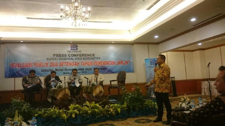 Head to Head Versi Indo Barometer: Jokowi 50,2%, Prabowo 28,8%
