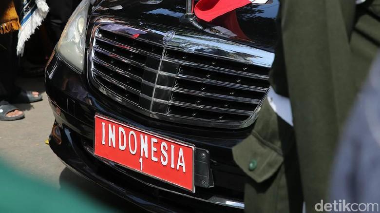Mobil kepresidenan Joko Widodo Foto: Ari Saputra