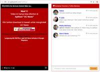 Gambar 4, Aplikasi UC News yang disarankan untuk digunakan