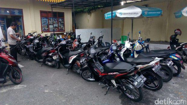 Polresta Pekanbaru Amankan 27 Motor Dari Aksi Balapan Liar
