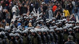 AS Serukan Rusia Bebaskan Segera Ratusan Demonstran Antikorupsi