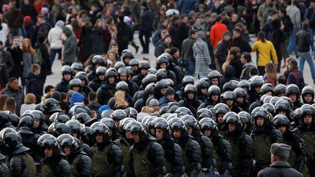 Polisi Rusia bersiaga mengawal unjuk rasa di Moskow