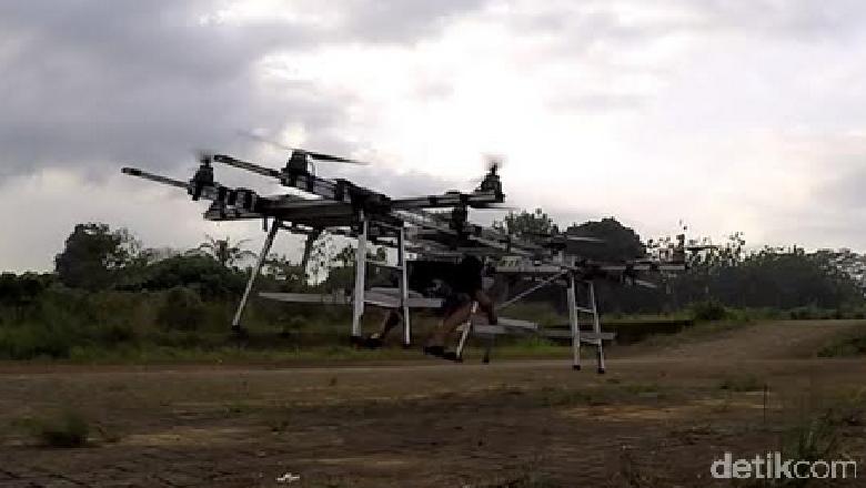 Ojek Terbang Made In Indonesia Sudah Diuji Terbang Hingga 2 Meter