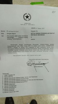 Misteri Surat Jokowi Soal RUU Pertembakauan